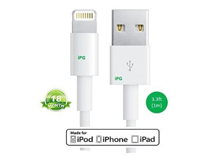 Apple 1M Lighting USB Cord Sync Data Cable (White) - 4