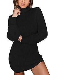 SOMTHRON Women Oversize Knit Pullover Sweatshirt 4XXXXL Longline Winter Sweater Dress