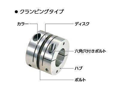 鍋屋バイテック カプリコン フレキシブルカップリング ディスクタイプ XBS-94C7-30-35