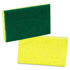 Scotch-Brite 74 Medium Duty Scrub Sponge, 6.1'' Length x 3.6'' Width x 0.7'' Thick (Case of 20)