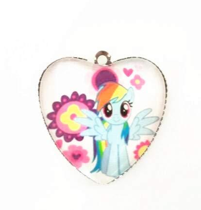 small ma baoli 25mm heart necklace pendant chain twilight sparkle cloud po peach dough universe princess bracelet diy accessories (yun po (Gold Twilight Pendant)