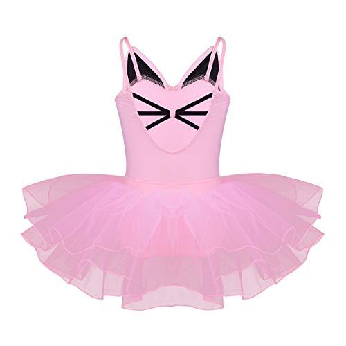 YiZYiF Baby Girls' Cutie Cat Princess Costumes Ballet Tutu Dancewear Fancy Dress Pink 6 ()