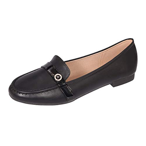 CINAK Loafers Flats for Women- Comfortable Casual Walking Slip On Round Toe Ladies Shoes