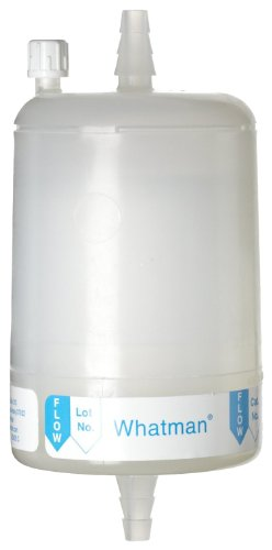 Whatman 6701-7510 Polycap 75 TF PTFE Membrane Capsule Filter with 1/2'' SB Inlet and Outlet, 60 psi Maximum Pressure, 1.0 Micron by Whatman