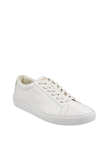 Sneaker, White, 10.5 Medium US (Guess Leather Sneakers)