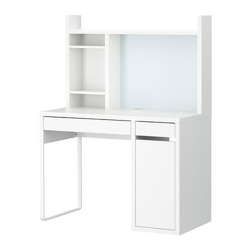 Micke,Computer Work Station, White by IKEA