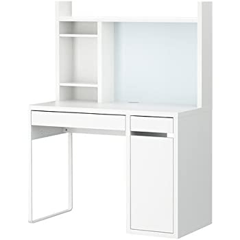 Amazon Com Ikea Desk White Micke 802 130 74 Kitchen
