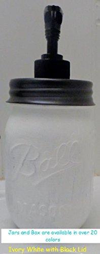 Single Painted Green Mason Jar Soap Dispenser,Hand Sanitizer Dispenser,Soap Dispenser,Mason Jar Decor,Kitchen Decor,Vintage,Mason Decor, white Jar (Pickle Soap compare prices)