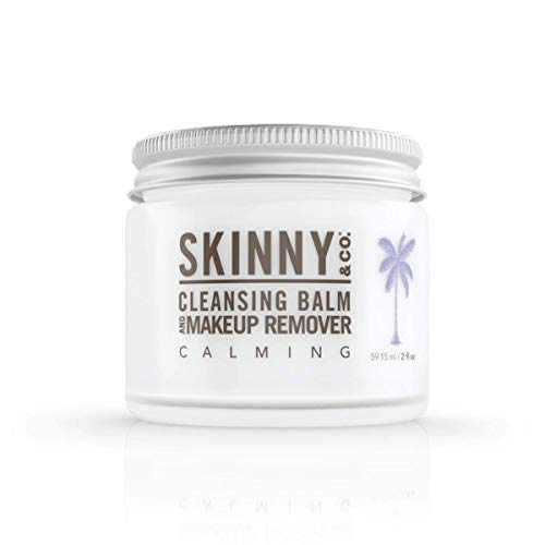 SKINNY and CO. Cleansing Balm (2oz) Coconut Oil and Essential Oils. Makeup Remover, Cleanser, Moisturizer. Chemical Free (Calming)
