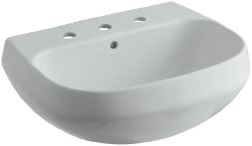KOHLER K-2296-8-95 Wellworth Bathroom Sink Basin, Ice Grey