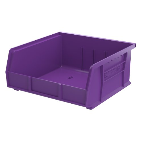 Akro-Mils 30235 Plastic Storage Stacking Hanging Akro Bin,11-Inch by 10-7/8-Inch by 5-Inch, Purple, 6-Pack by Akro-Mils