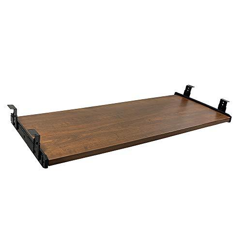 FRMSAET Furniture Accessories Office Product Suits Hardware 30'' Keyboard Drawer Tray Wood Holder Under Desk Adjustable Height Platform. (Large, Brown)