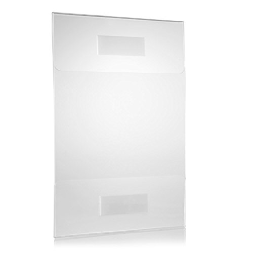 8.5 x 11 Acrylic Sign Holders for Wall Signs, Crack and Scratch Resistant Acrylic Frames (6 pack)