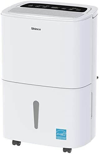 Shinco 3,000 Sq. Ft. Dehumidifier, Energy Star Rated, for Medium Rooms and Basements, Continuous Gravity Drain, with Wheels, Quietly Remove Moisture Medium - (50Pint)