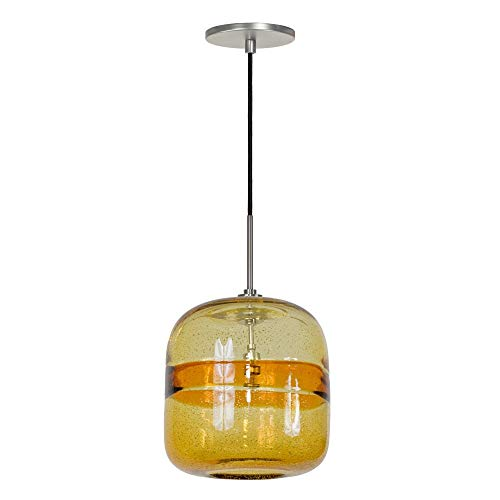 (Jesco Lighting PD407-AM/BN 1-Light Line Voltage Pendant and Canopy with Brushed Nickel Socket,)