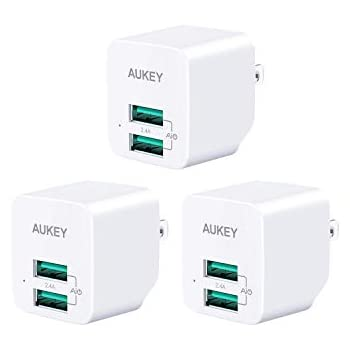 Amazon.com: AUKEY USB Wall Charger, Ultra Compact Dual Port ...
