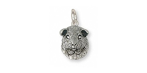 Guinea Pig Jewelry Sterling Silver Guinea Pig Charm Handmade Piggie Jewelry GP2-C