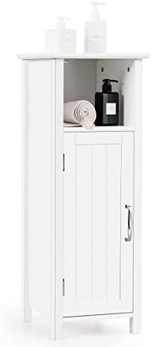 picture of Tangkula Bathroom Storage Cabinet, Multifunctional Storage Cabinet - Single Door