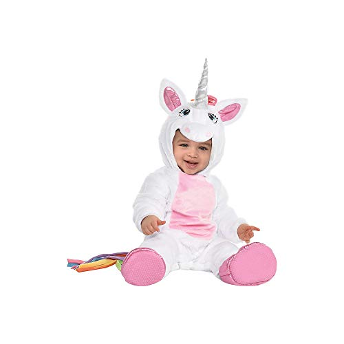 Unicorn Halloween Costume for Infants, 6-12 Months, with Attached Hood, by Amscan]()