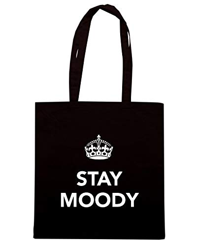 Borsa Shopper Nera TKC4108 KEEP CALM AND STAY MOODY
