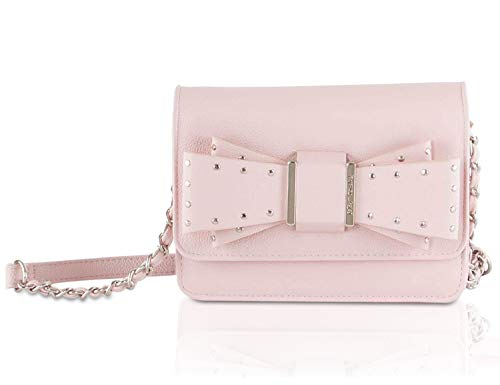 Betsey Johnson Studded Bow Crossbody Bag in Pink ()