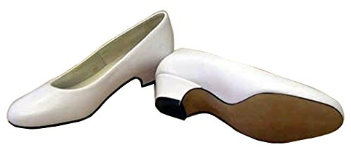 Bates 775 Womens White Leather Uniform Dress Pumps Shoe 9.5 3E US by Bates