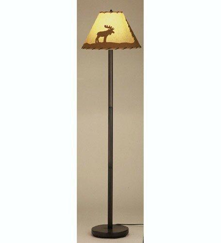 Rustic Lone Moose Floor Lamp