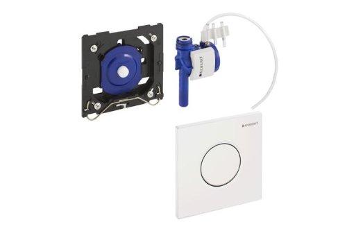 Sistema De Descarga Geberit Para Urinarios Con Accionamiento De Descarga Neum/ático Pulsador Serie 01: Blanco Alpino Geberit 116.011.11.5