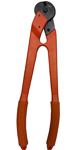 24'' Cable Cutter for up to 1/2'' Stainless Steel Wire Rope Cable by ArkHardware