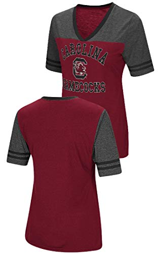 Colosseum Ladies South Carolina Gamecocks Smaller Fit Whole Package Synthetic V Neck T Shirt (L=8/10) - Gamecock Womens V-neck