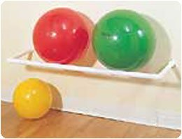 Therapy Ball Racks Wall Mount Rack, Dimensions: 58''L x 17''W x 3''H - Model 819901