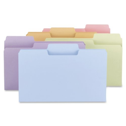 Smead SuperTab® File Folder, Oversized 1/3-Cut Tab, Legal Size, Assorted Colors 100 per Box (11962) by Smead