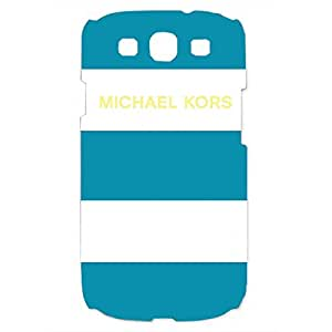 Unique Style MK Michael Kors Luxury Logo Phone Case Cover Customized for Samsung Galaxy S3 3D Hard cover Case_Blue and White