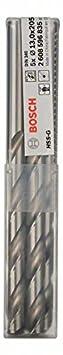 Bosch 2 608 596 820 - Brocas para metal HSS-G, DIN 340-5 x 87 x 132 mm (pack de 5) 2608596820