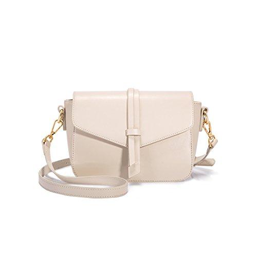 Ladies Bag Simple Sac à bandoulière Messenger Bag Sacs à main Small Bales Blanc Petit sac carré Leisure Side Package Simple et élégant