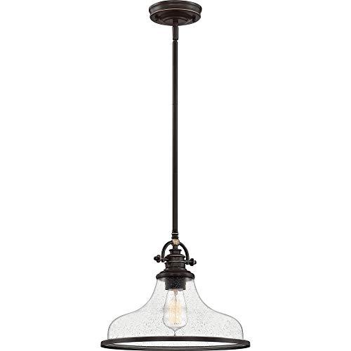 Quoizel GRTS2814PN Grant Mini Pendant Ceiling Lighting, 1-Light, 100 Watt, Palladian Bronze (12