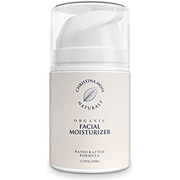 Facial Moisturizer, Organic and 100% Natural Face Moisturizing Cream for Sensitive, Oily or Severely Dry Skin - Anti-Aging and Anti-Wrinkle, for Women and Men. By Christina Moss Naturals.