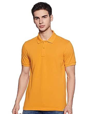 Amazon Brand - Symbol Men's Plain Regular fit Polo (AW17MPCP10_Sky Blue_XL)