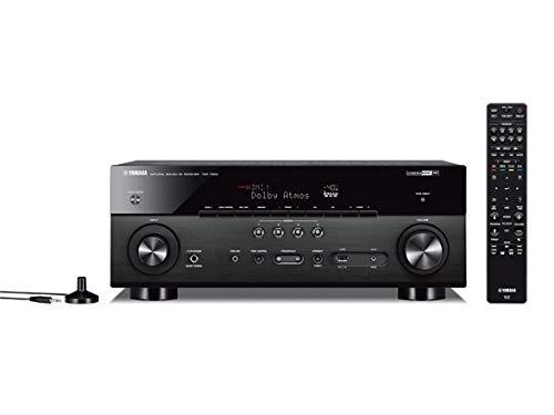 Yamaha TSR-7850R 7.2CH Dolby Atmos DTS Wi-Fi BT 4K Receiver, Black (Renewed) (Yamaha Receiver V677)