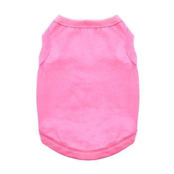 - DOGGIE DESIGN Cotton Dog Tank (Carnation Pink, L)