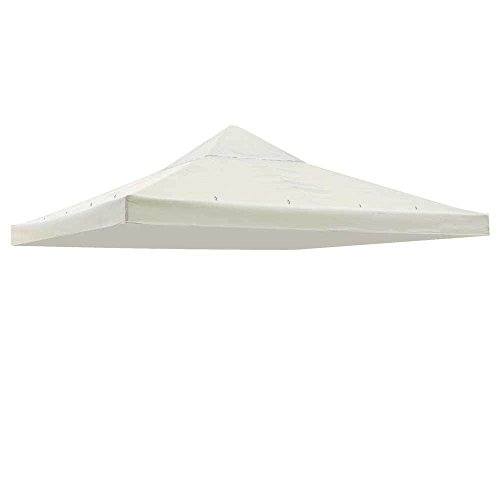 Koval Inc. All Weather 10′ X 10′ Ft Garden Gazebo Replacement Canopy Top Ivory Review