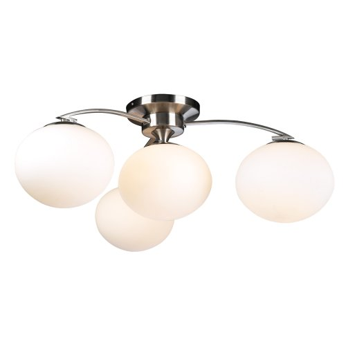PLC Lighting 7228 SN 4 Light Ceiling Light Aosta Collection