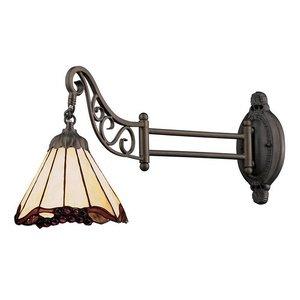 Arm Swing Tiffany Lamp (Elk 079-Tb-03 Grape Trellis Mix-N-Match 1-Light Swing Arm Sconce, 12-Inch, Tiffany Bronze)