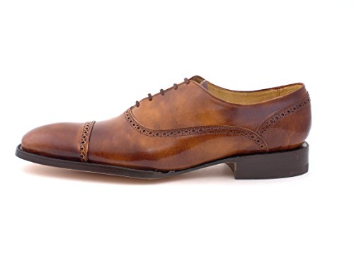 Oxford Calfskin Imported Fine Leather Formal and Dress Handcrafted Fashion Men Shoes (8, Brushed (Imported Mens Shoes)