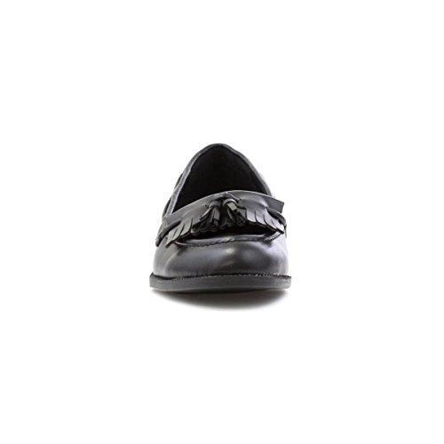 En Cuir Mocassins Chaussure Noir Noir Lilley Femme Pour tqSwf6