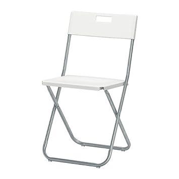 ikea gunde silla plegable blanco