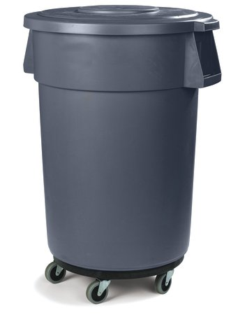Pack of 3 Black TigerChef PLTCD005@3PK Trash Can Dollies 5 Caster