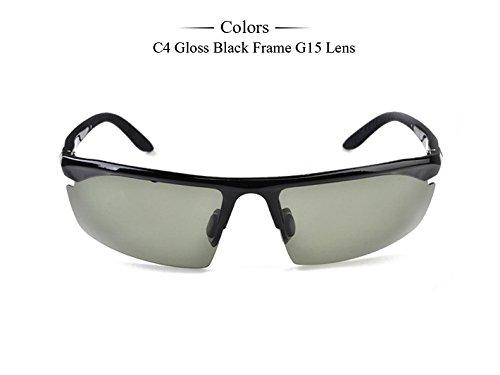 gafas polarizadas Negro mate con Tr90 Modo hombres G15 gafas sol C4 pero086 Black de G15 la alta Gloss calidad caja C5 de gafas Gafas de TIANLIANG04 R0WHOwqH