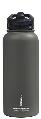 Price comparison product image Fifty/Fifty V34002SL0 34oz Slate Vacuum Insulated Bottle, 1 Pack