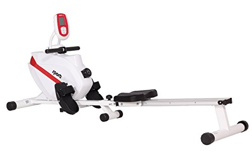 Sportplus Indoor Rowing Machine - White/Red